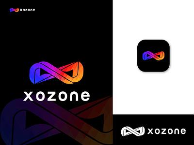 Xozone Modern Color Logo Mark apps motion graphics animation graphic design 3d ux ui illustration vector logo design logo identity icon design branding logo maker x letter modern colorful logo z letter logo x letter logo xz logo concept