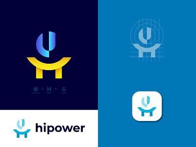 HiPower Modern Logo Mark || Letter H || h letter h modern logo h logo h letter modern logo power logo hipower logo ux illustration vector logo design identity icon design branding logo motion graphics graphic design 3d animation ui