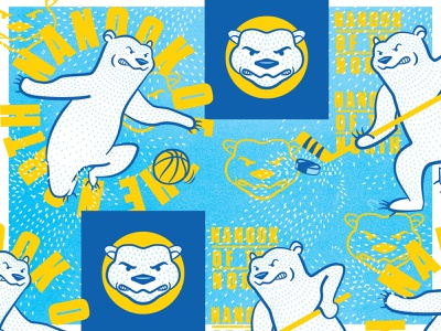 Bears and bears and bears, oh my! III hockey basketball mascot identity logo polar bear star north