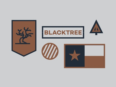 Blacktree flag texas military patch badge artillery flame wildfire fire blacktree tree black