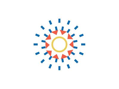All the Suns_1 monoline line triangle circle geometric shine rays suns sun