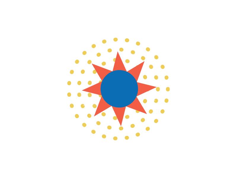 All the Suns_4 monoline line triangle circle geometric shine rays suns sun