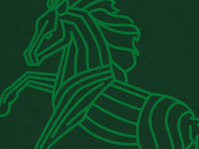 Horseplay II texture monoline line art icon horse