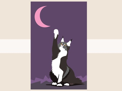 The Cat and the Moon by IxCO