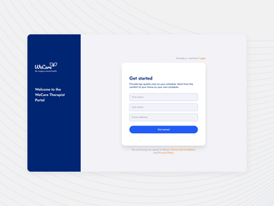 Therapist Web App typography app ux design branding logo ui