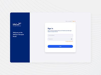 Therapist Web App ux logo design app ui