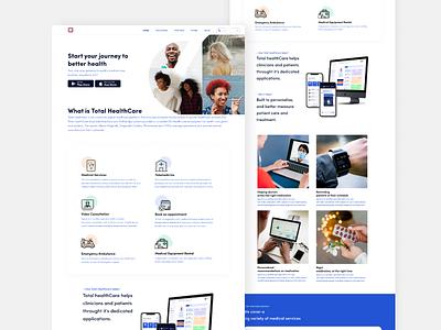 Healthcare Website design branding ux ui
