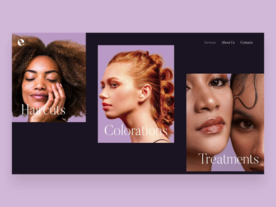 Euphoria Hairstudio - Web interface design ux minimal ui website web design branding