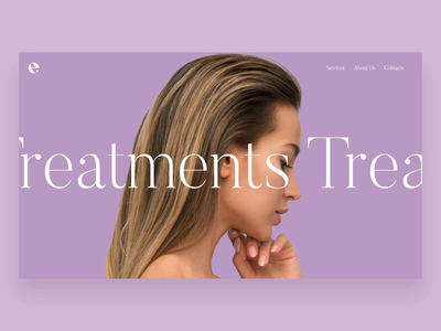 Web UI - Hairstudio Treatments Page website ui web minimal design branding