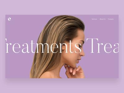 Web UI - Hairstudio Treatments Page website ui web minimal design branding