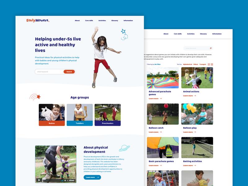 Early Movers web design branding website ui ux