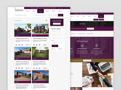 Edwards Estate Agents Website UI ui design website web ux ui estate agents estate