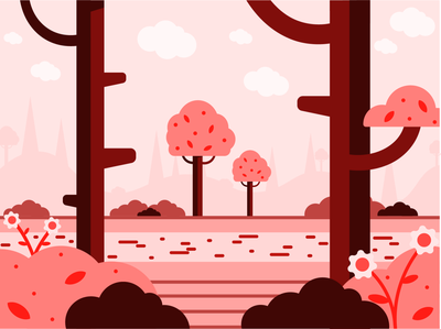 Spring Landscape background art background design minimal illustration landscape design landscape illustration flat design illustration art graphic design graphicdesign illustration design flat illustration vector minimal illustrator illustration flat design