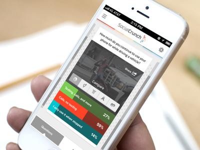 Question Results - SocialCrunch iOS app