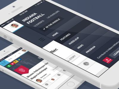 Mobile menu + individual team page