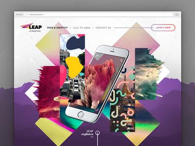 Landing page custom visual piece