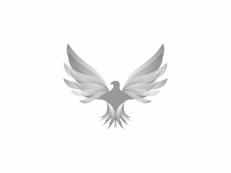Eagle design symbol gray inspiration mark animal branding logo wip transparent gradient eagle