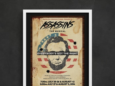 Assassins - Theatrical Publicty Poster theater design theater publicity theater branding theater posters theater poster art poster design musical poster theatre