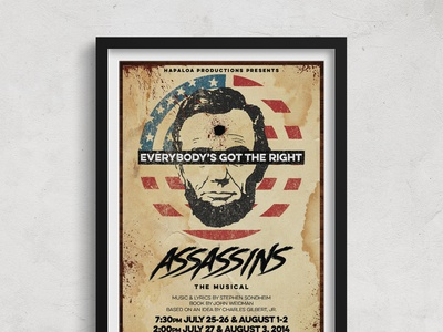 Assassins - Theatrical Publicity Poster theater publicity theater branding theater theater posters theater design theatre poster design poster musical
