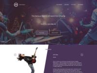 Rock band landing page