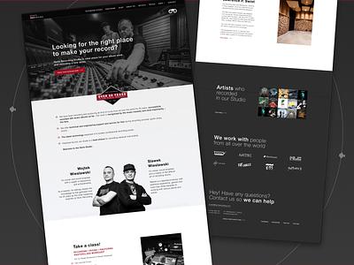 HERTZ RECORDING - Web Design for Recording Studio mastering music industry music mixing mixing studio branding ui web design dark design recording studio music records music music studio