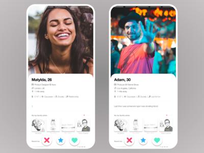 UI Challenge day 6 - User Profile - Tinder redesign