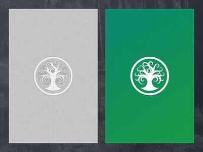Tree Mark construction stamp mark logo tree