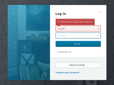 Modal with inline validation validation form log in modal audio turntable