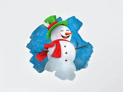 Snowman cold snow spot illustration winter christmas snowman