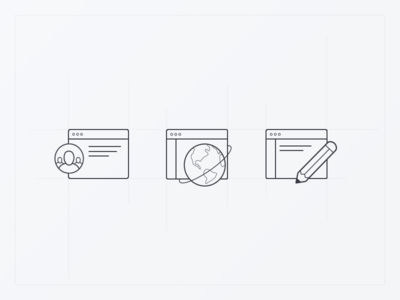 Line Icons – Help Center category pencil earth icons line icons