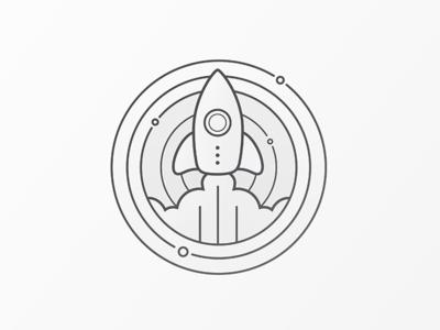 Rocket Badge badge stamp space rocket
