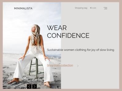 Slow Fashion Landing Page