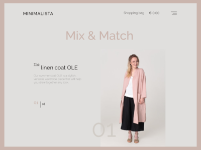 Slow Fashion Shop Page