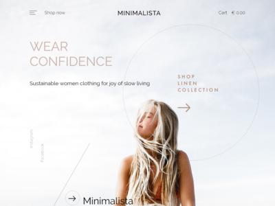 Remake Slow Fashion Landing Page