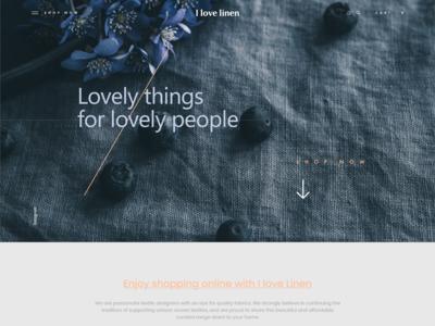 Unsolicited Landing Page Design - Ilovelinen