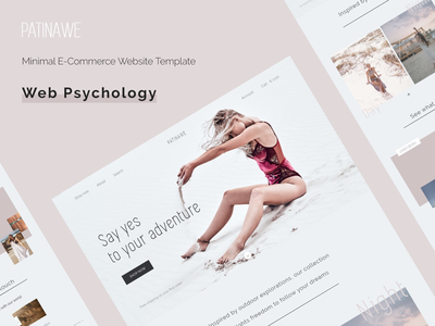 Minimal E-commerce website template