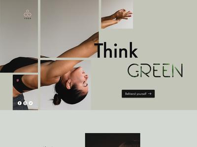 Yoga Center Website Concept