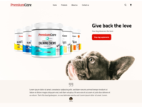 Landing Page Concept - Dog Supplements E-commerce Website