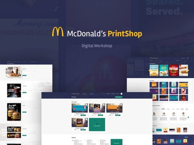 McDonald's - Digital Workshop SaaS Platform workshop digital workshop yellow ronald editor big mac burger platform saas golden arches mcdonalds mc donalds