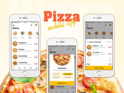 Pizza Mobile App store shop order food burger delivery react native hybrid app native app mobile app design mobile app pizza