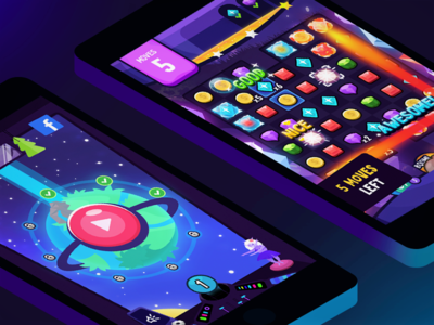 Planetary Stones game app unity ux illustration ui game design mobile game game art branding art design