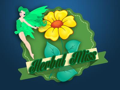 Herbal Miss Brand vegitable green organic logo