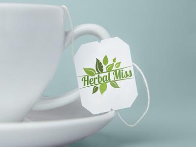 Herbal Miss new Logo blue coffee tea green logo brand