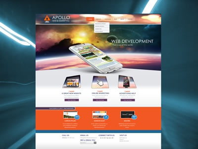 Apollo Web & Marketing purple space orange web agency web design