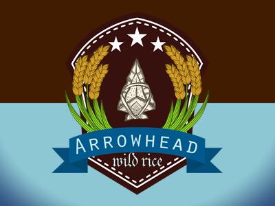 Arrowhead Wild Rice Logo arrow wild rice rice brown blue brand logo