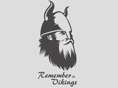 Remember the Vikings logo sports horns grey vikings viking