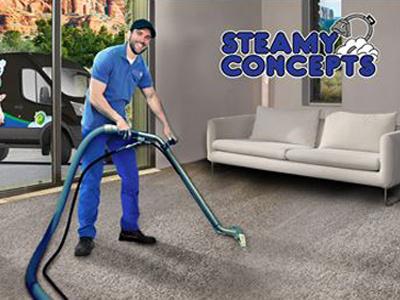 Steamy Concepts Facebook ad photo editing van blue facebook ad carpet