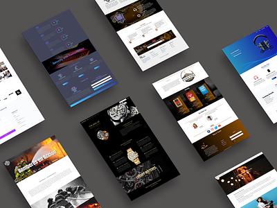 Samples ux design landing page