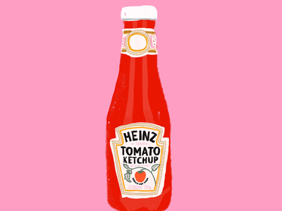 Personal Project - Heinz Ketchup bottle illustration