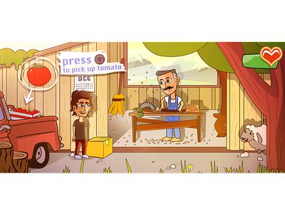mr. Carpenter modern digital drawing light location character game design game illustration
